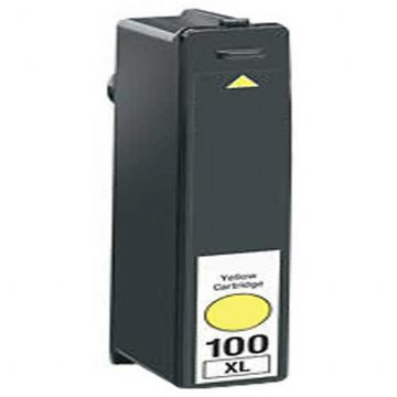 Refurbished High Capacity Yellow Lexmark 100XL Ink Cartridge (Replaces 014N1071E Ink)